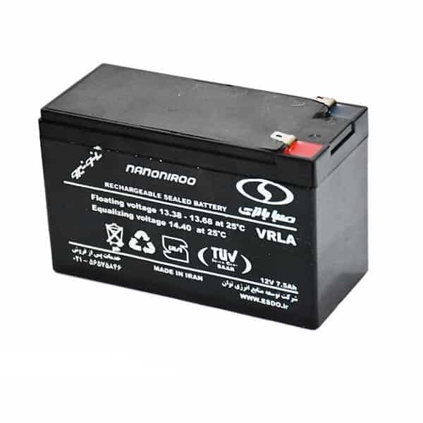 باطری 12ولت 7.5 آمپر سیلد اسید صبا باتری