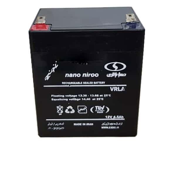 باطری 12 ولت 4.5 آمپر صبا باتری