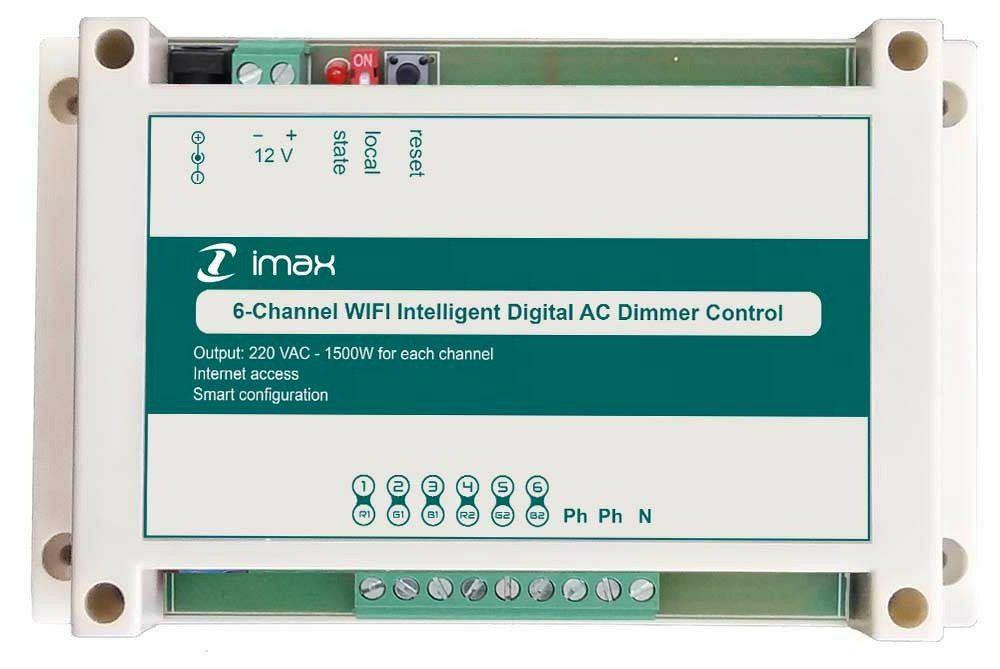 دیمر با کنترل از راه دور از طریق وای فای، اینترنت و ریموت با نرم افزار هوشمند
